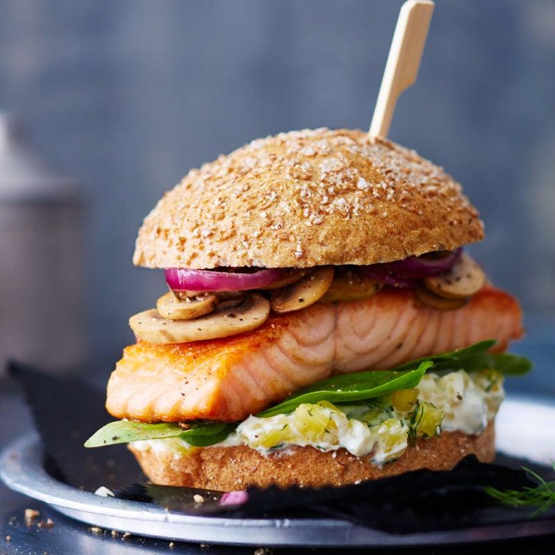 Foto Lachs-Ananas-Burger von WW