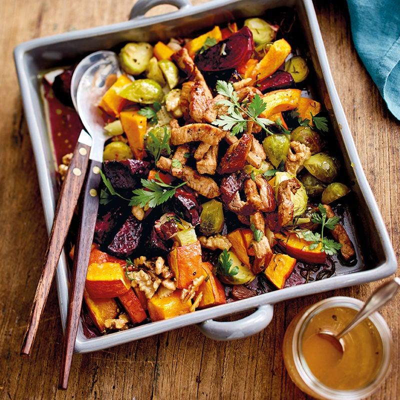 Foto Gerösteter Herbstsalat mit Schnitzelstreifen von WW