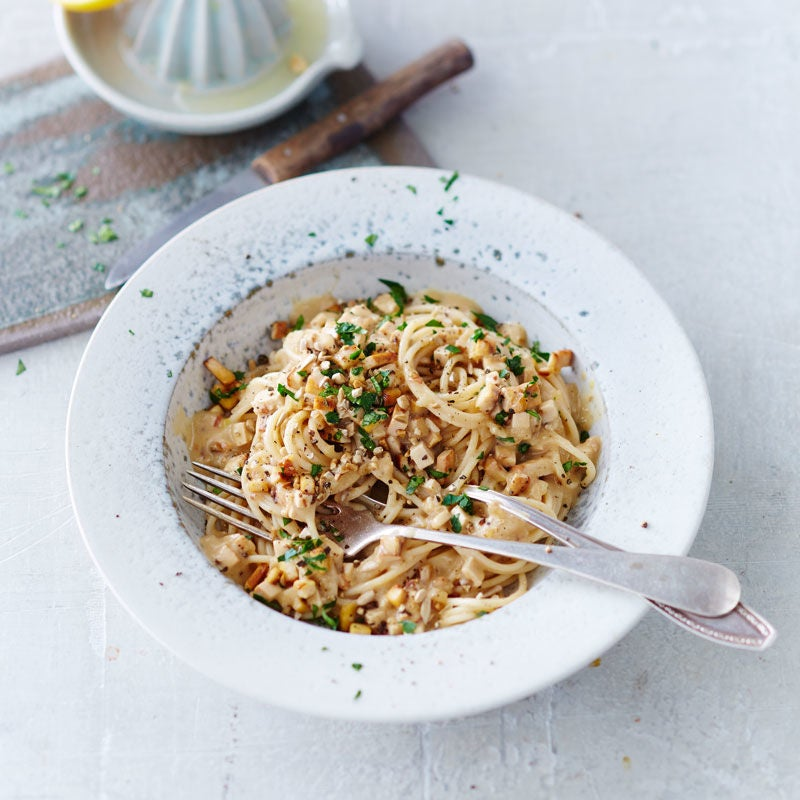Foto Vegane Spaghetti carbonara von WW
