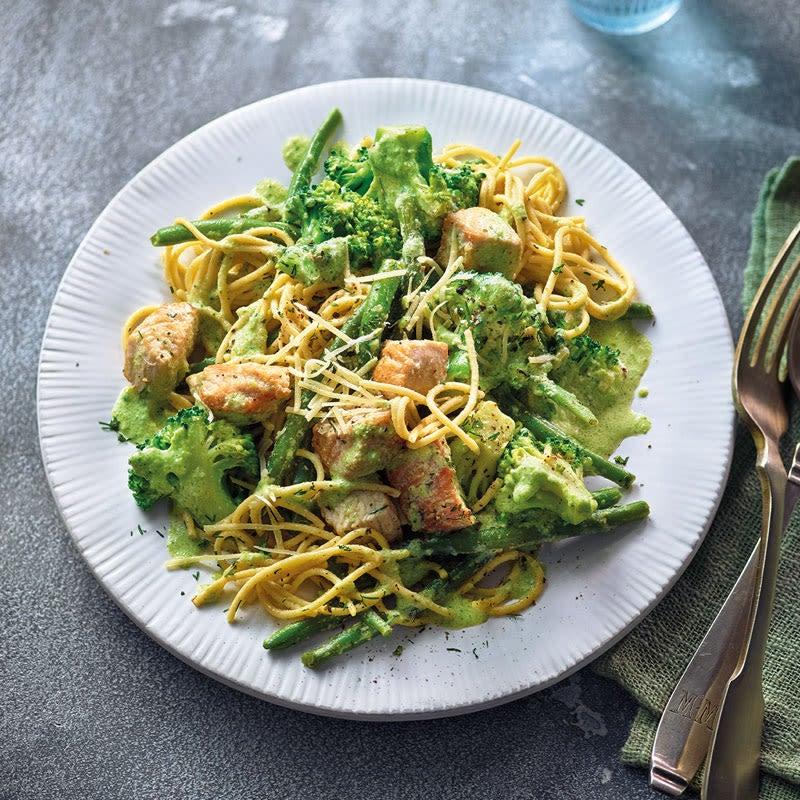 Foto Cremige Broccoli-Putenbrust-Nudeln von WW