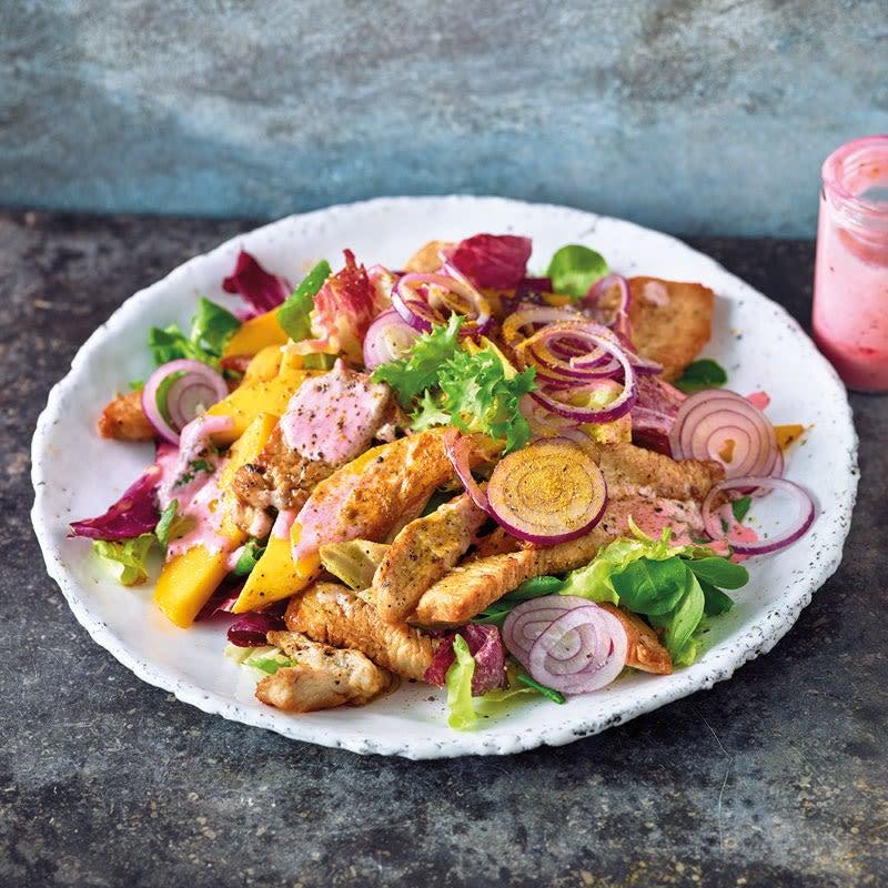 Foto Fruchtiger Blattsalat mit Pute von WW
