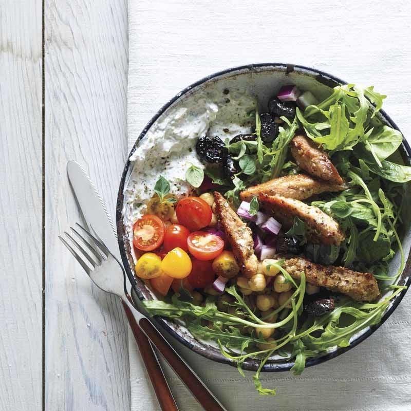 Foto Griechischer Souvlaki-Salat von WW